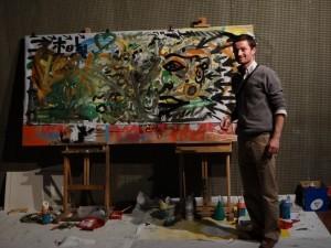 FRNCK et une création visuelle sur toile