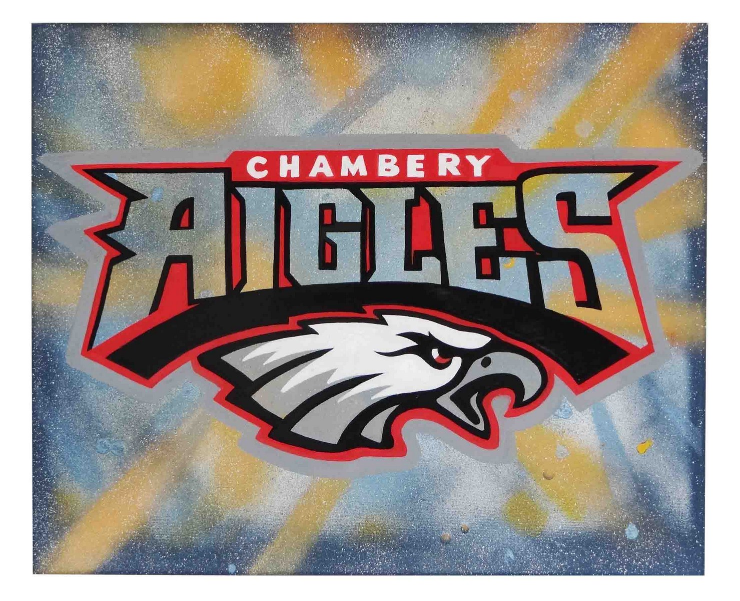 Toile logo aréosol - Les Aigles - Football Americain - Chambéry