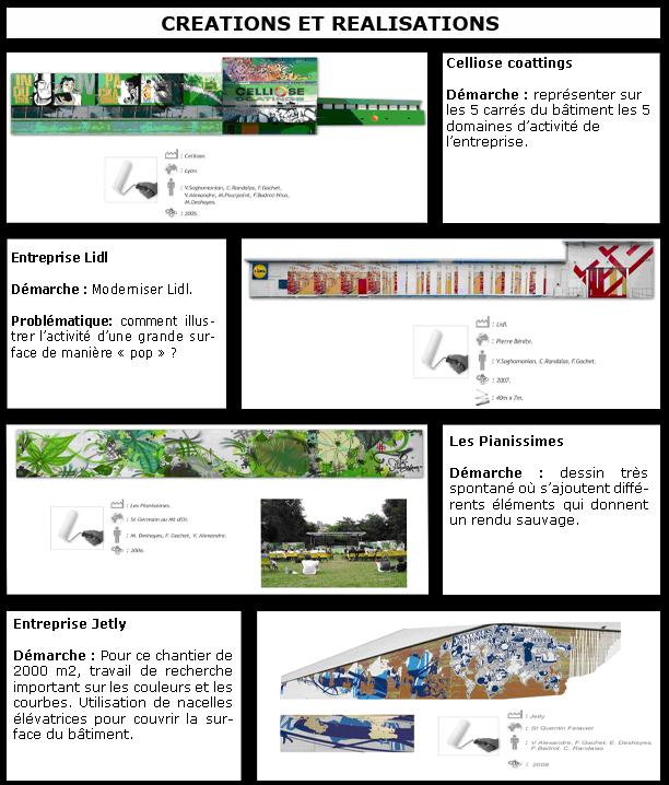 Différentes créations visuelles de FRNCK et de son équipe.
