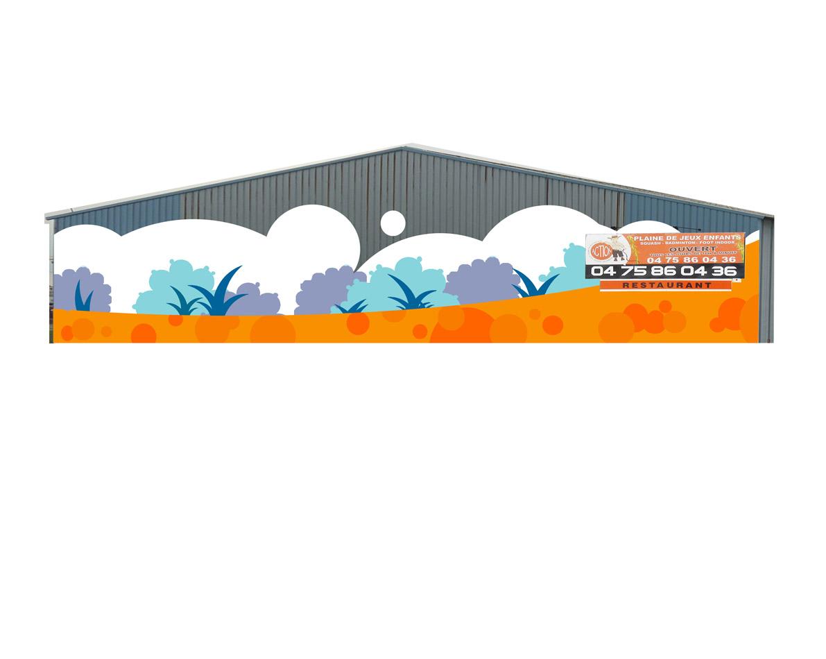 Infographie projet pour la décoration d'une salle de sport - 2009