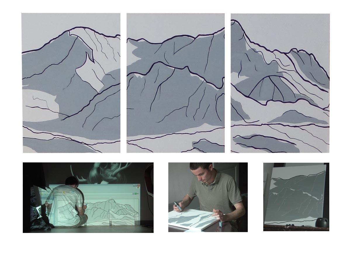 Toile FRNCK Création montagne de Peclet - Val Thorens - 2009