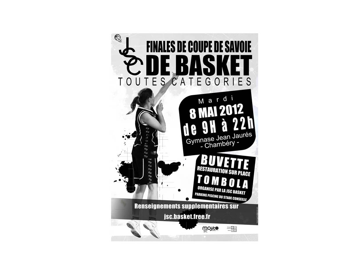 Infographie pour un tournois de basket à Chambéry