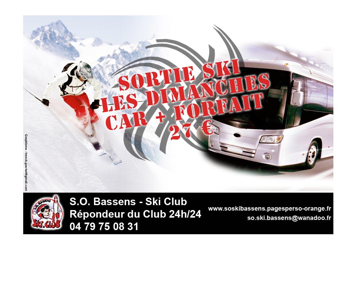 Affiche infographie FRNCK pour le club de ski de Bassens