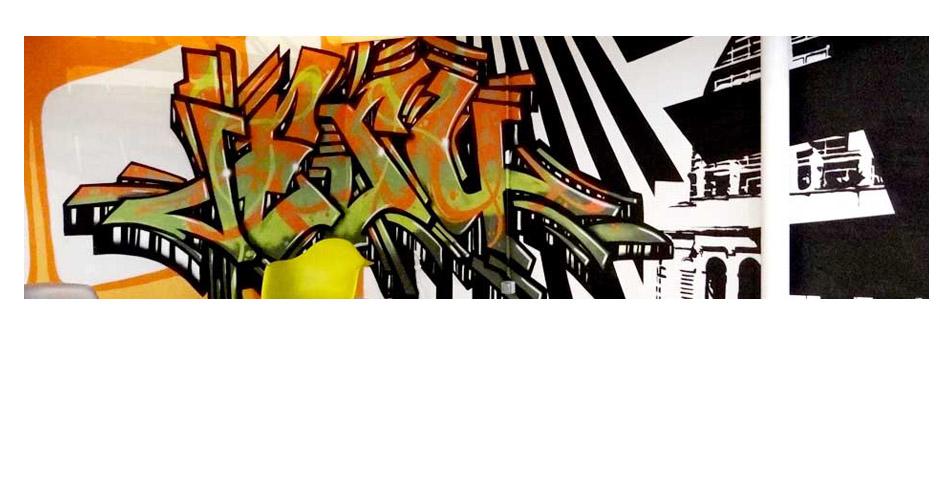 Création Graffiti - Lyon 6 - Espaces Atypiques - Metro Graffiti Opéra.