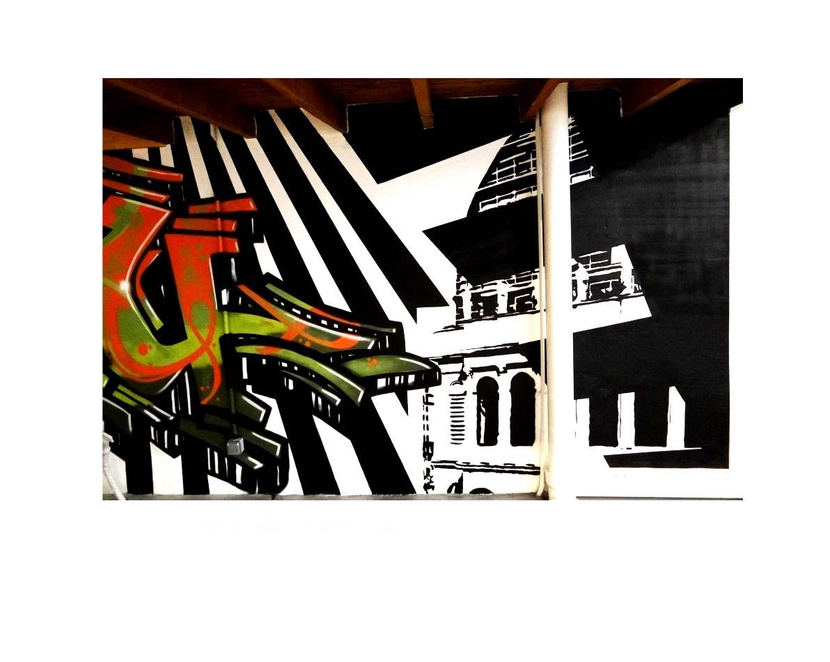 Création Graffiti intérieur - Lyon 6 - Espaces Atypiques - Opéra de Lyon.