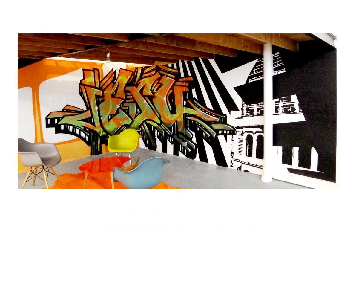 Création Graffiti intérieur - Lyon 6 - Espaces Atypiques - Graffiti et Opéra de Lyon